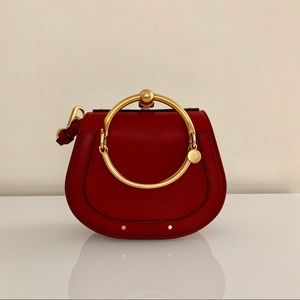 Chloé Mini Nile Bag in Intense Red